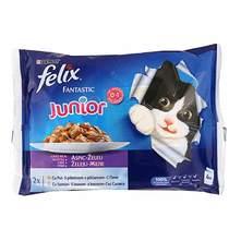 Felix Fantastic Junior Hrana za mačke piletina, losos 4x100 g