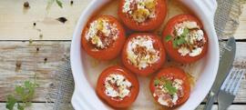 Pečene rajčice punjene feta sirom i pancetom