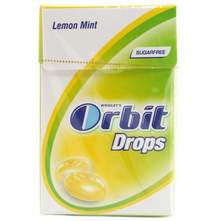 Orbit Drops lemon mint bomboni 33 g