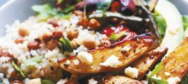 Salata od prosa i slanutka s pečenim krumpirom i avokadom