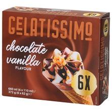 Gelatissimo Sladoled čokolada, vanilija 6x110 ml