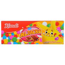 Kandi Mljacko Mliječna čokolada s confettino čokoladnim bombonima 230 g