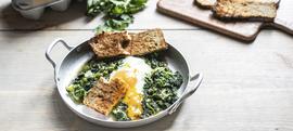 Dinstano povrće s jajem