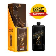 Johnnie Walker Black Label Blended scotch whisky 0,7 l+Pocket JW Black 0,2 l gratis