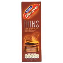 McVities Digestive Thins Keksi milk chocolate 180 g