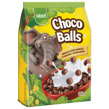 Naturel Choco Balls Hrskave žitne kuglice kakaom i čokoladom 300 g
