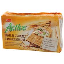 K Plus Active Kreker sa sezamom 250 g