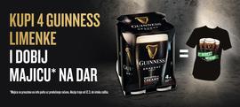 Kupi 4pack Guinnessa u limenci i dobivaš majicu na dar
