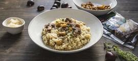 Rižoto od piletine, kestena i gljiva