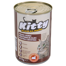 Kitty Hrana za mačke perad, kunić 415 g