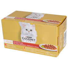 Purina Gourmet Gold Hrana za mačke više okusa 4x85 g