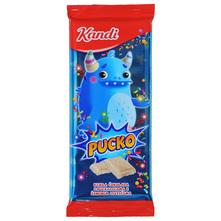 Kandi Pucko Bijela čokolada s puckalicama i šarenim listićima 80 g