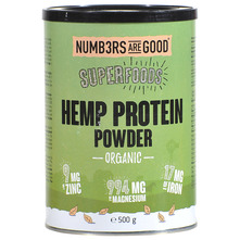 Numbers Are Good Superfoods Hemp Protein powder organic 500 g