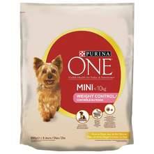 Purina One Mini Weight Control Hrana za pse puretina, riža 800 g