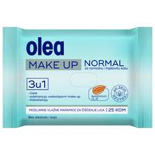 Olea Make Up Vlažne maramice za čišćenje lica normal 25/1