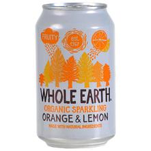 Whole Earth Sok gazirani naranča i limun 330 ml