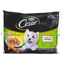 Cesar Hrana za pse piletina, mrkva, govedina i povrće 4x100 g