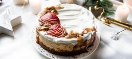 Zimska torta od sira sa speculaas keksima, jabukama i karamelom