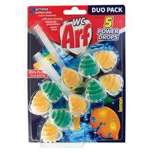Arf WC 5 Power Drops Osvježivač wc školjke lemon 2x55 g