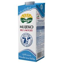 Z bregov Mlijeko bez laktoze 2,8% m.m. 1 l