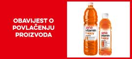 Opoziv i povlačenje vode Jana vitamin naranča s tržišta