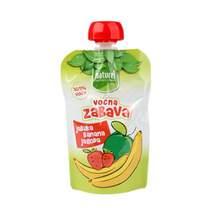 Naturel Voćni pire jabuka, banana, jagoda 90 g