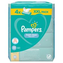 Pampers Fresh Clean Vlažne maramice 4x80 komada