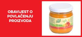 Opoziv i povlačenje proizvoda Bio zone namaz slanutak pečena paprika s tržišta