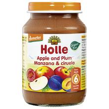 Holle Kašica od jabuke i šljive eko 190 g
