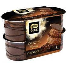 Nestlé Gold Crunchy mousse desert chocolate 4x57 g