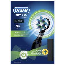 Oral B Black edition Punjiva električna zubna četkica s putnim spremnikom