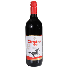 Vinarija Čoka Ždrepčeva krv poluslatko crveno vino 1 l
