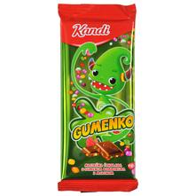 Kandi Gumenko Mliječna čokolada s gumenim bombonima i malinom 100 g