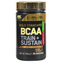 Optimum Nutrition Gold Standard BCAA Train+Sustain Prah strawberry kiwi 266 g