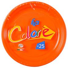 Flo Colore Plastični tanjuri 25/1