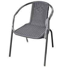 Stolica od plastike i čelika 55x59x73 cm