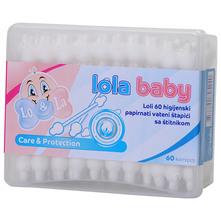 Lola Baby Lo & La Care&Protection Higijenski papirnati vateni štapići sa zaštitom 60/1
