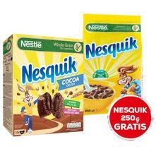 Nestlé Nesquik Žitne pahuljice jastučići cocoa crush 360 g+ kuglice 250 g gratis