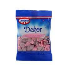 Dr.Oetker Dekor roza-lila srca 10 g