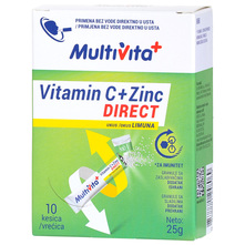 Multivita Vitamin C+Zinc Direct 25 g 10/1